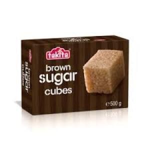 Cube sugar brown